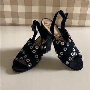Sam Edelman Women's Black Suede Sandals 9M Seana